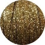 Cordon de cuir plat paillettes 10mm or-vente au cm