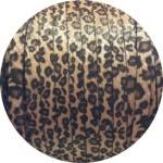 Laniere de cuir plat leopard avec poils synthétiques 10mm-vente au cm